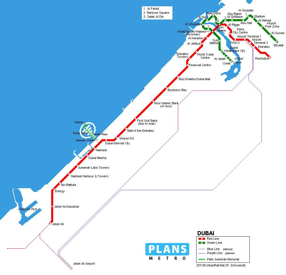 Métro de Dubaï / PLANS METRO