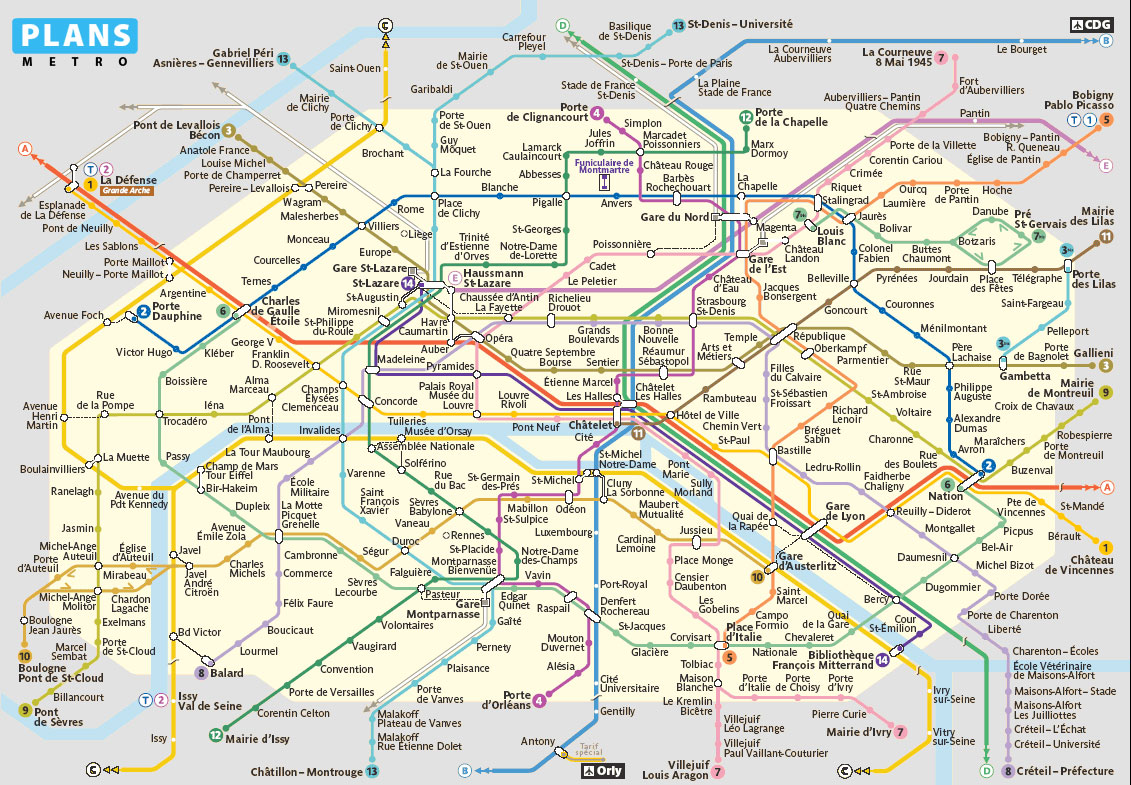 Métro de Paris / PLANS METRO
